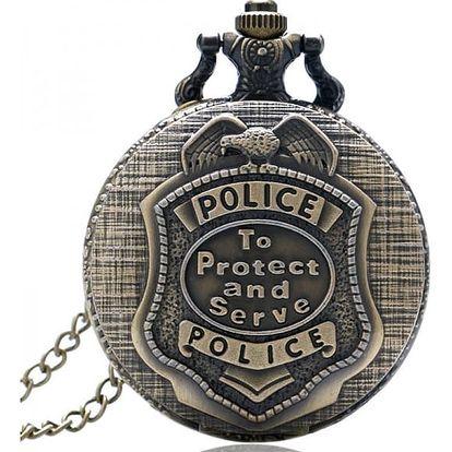 Vintage kapesních hodinek pro policisty - dodání do 2 dnů