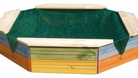 Pískoviště Woody dřevěné - barevné