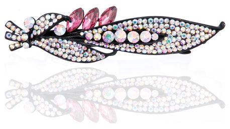 Fashion Icon Spona do vlasů List s krystaly