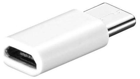 Adaptér USB Type-C do micro USB v bílé barvě - dodání do 2 dnů
