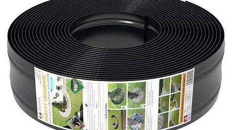 Obrubník DOMO Garden zahradní skrytý 12,5 cm x 12 m černé + Doprava zdarma