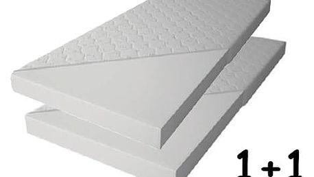 Pěnová matrace 10cm 90x200 cm 1+1