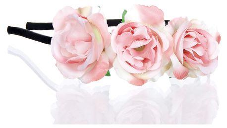Fashion Icon Čelenka do vlasů Hand made- Ruční práce květinová růže