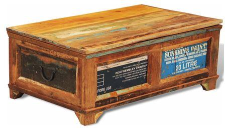 Úložný box - konferenční stolek z recyklovaného dřeva V1092 Dekorhome