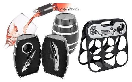 3dílný stylový set pro milovníky vína nebo atraktivní stojan na víno