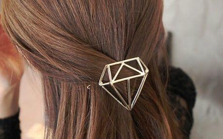 Sponka do vlasů ve tvaru diamantu