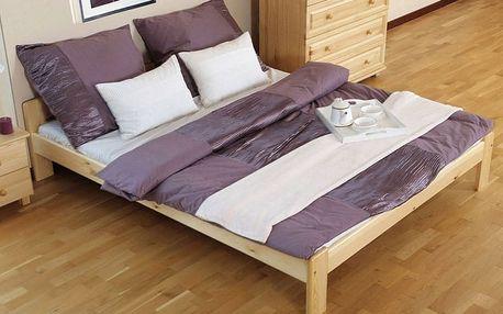 Dřevěná postel Celinka 140x200 + rošt ZDARMA borovice