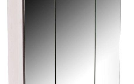 Skříňka se zrcadlem provence pvp01l, 81/78/25 cm