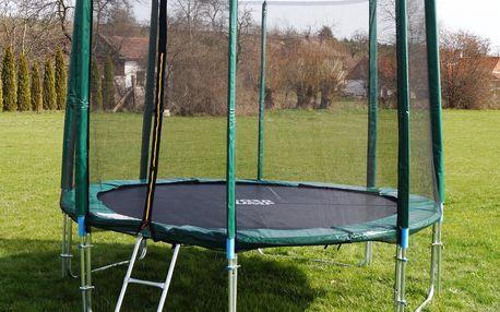 GoodJump 4UPVC zelená trampolína 305 cm s ochrannou sítí + žebřík + krycí plachta