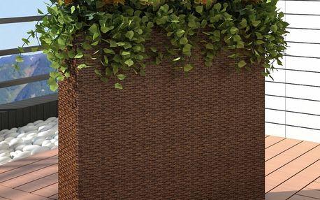 Rozměrný zahradní ratanový květináč hnědý V1085 Dekorhome