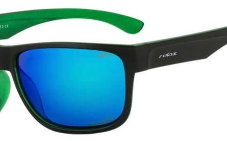 Sluneční brýle Relax Galiano R2322A černá/zelená Uni