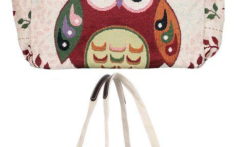 Fashion Icon Dámská kabelkaRed Owl sová velká