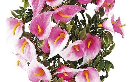 Umělé květiny kala, růžová, 30 cm, HTH