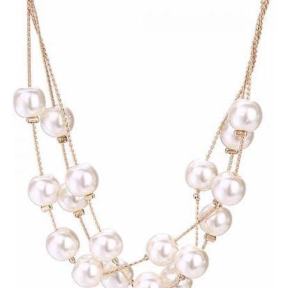 Luxusní bižuterní sada s perlovým náhrdelníkem 3 ks