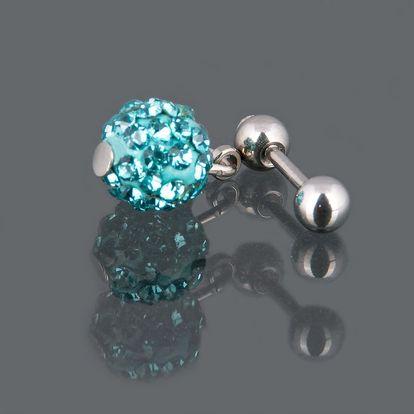 Piercing do pupíku s krystaly