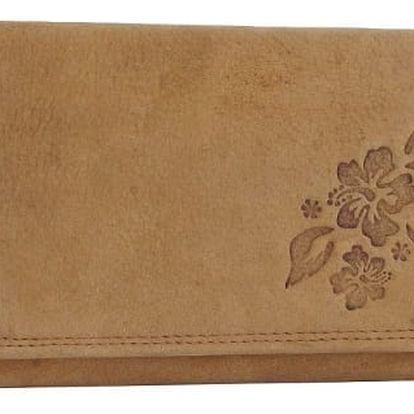 Dámská peněženka z pravé kůže ALWAYS WILD květy