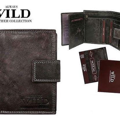 Pánská peněženka z pravé kůže ALWAYS WILD černá D1072L-MCR