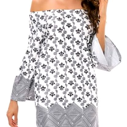 Rozmanité dámské šaty s širokými rukávy - 15 barevných vzorů