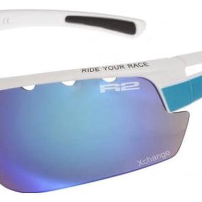 Sportovní sluneční brýle R2 SKINNER XL AT075E bílá, modrá lesklá XL