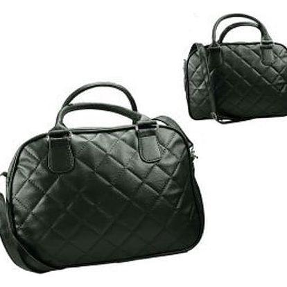 Dámská prošívaná kabelka (kufřík) černá