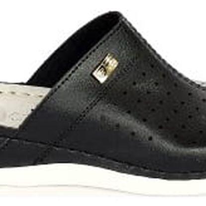 Dámské zdravotní pantofle s plnou špičkou koka černá
