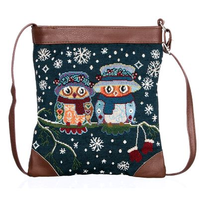 Fashion Icon Kabelka Winter motiv sovy crossbody