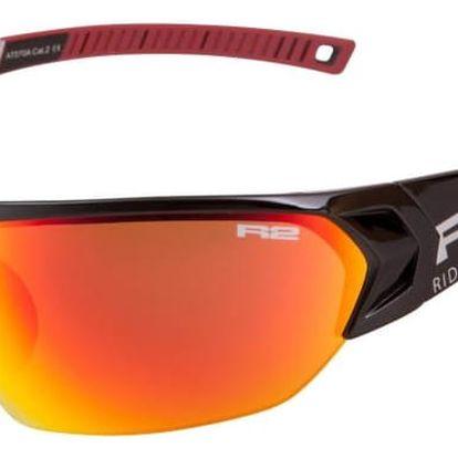 Sportovní sluneční brýle R2 UNIVERSE RX AT070A černá, červená lesklá at070a