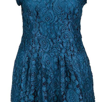 Petrolejové krajkové šaty Apricot