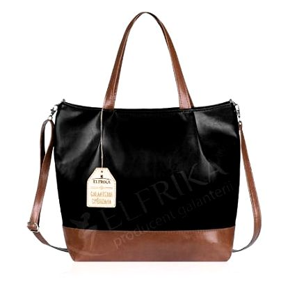 Elegantní dámská kabelka Elfrika černá/hnědá