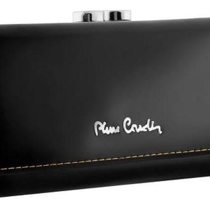 Dámská peněženka z pravé kůže Pierre Cardin NERO