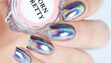 Holografické třpytky na nehty