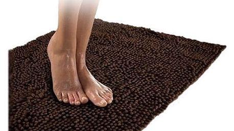 Kvalitní koberec do koupelny hnědý