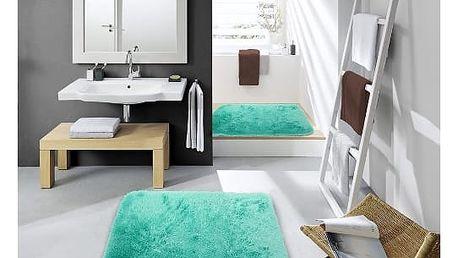 Sametově hebký koberec do koupelny máta
