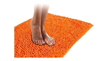 Kvalitní koberec do koupelny oranžový