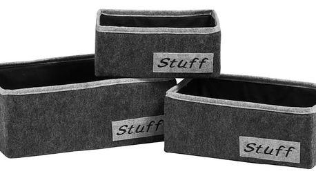 Sada 3 úložných plstěných košů Premier Housewares Sutff