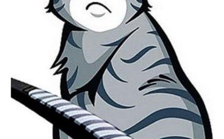 Zábavná a roztomilá samolepka kočky na zadní okno a stěrač