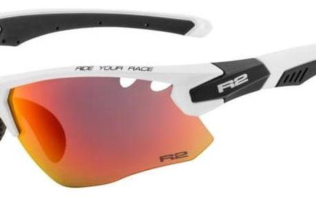 Sportovní sluneční brýle R2 CROWN AT078F bílá, černá lesklá AT078F