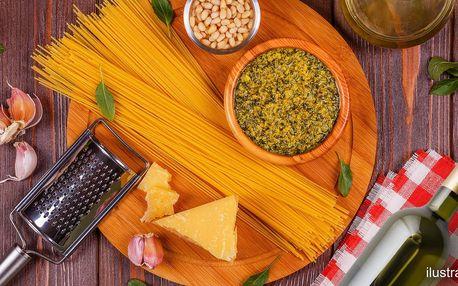 Box italských surovin na přípravu rychlých špaget