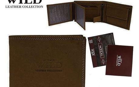 Pánská peněženka z pravé kůže ALWAYS WILD hnědá N992-MHU