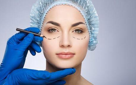 Plastická operace horních nebo dolních očních víček