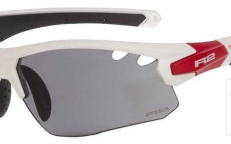 Sportovní sluneční brýle R2 CROWN AT078A bílá, červená, černá lesklá AT078A