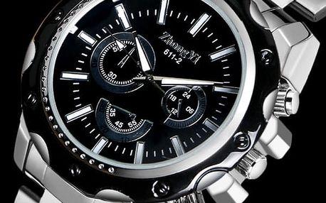 Pánské náramkové hodiny s kovovou konstrukcí - dodání do 2 dnů