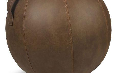 Hnědý sedací míč VLUV, 75 cm - doprava zdarma!
