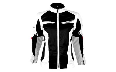 Dámská moto bunda W-TEC Ventex Lady Barva bílo-černá, Velikost L