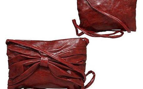 Dámská mini kabelka bordó
