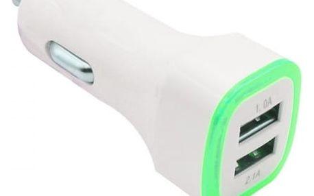 Autonabíječka s LED barvami a 2 porty