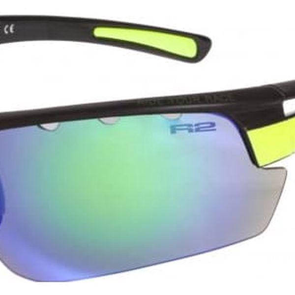 Sportovní sluneční brýle R2 SKINNER XL AT075D černá, žlutá lesklá XL