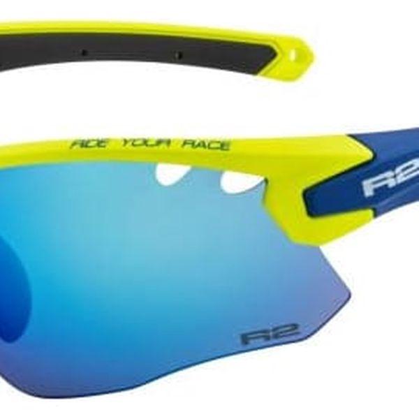 Sportovní sluneční brýle R2 CROWN AT078E neon zelená, modrá, černá lesklá AT078E