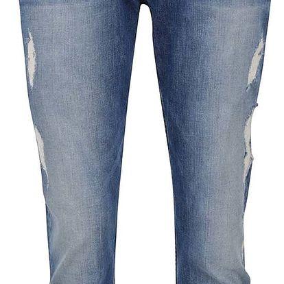 Modré dámské 3/4 džíny s potrhaným efektem Pepe Jeans Joey