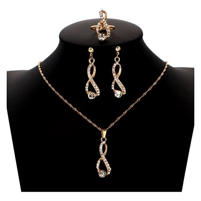 Sada šperků s čirými kamínky